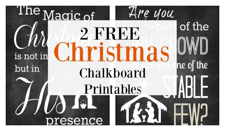 Second Chance to Dream: 2 Free Christmas Chalkboard Printables