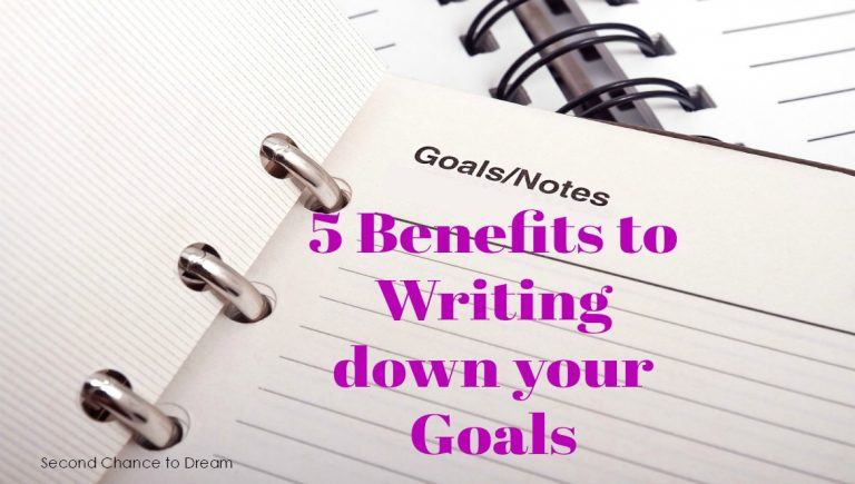 Second Chance to Dream: 5 Benefits to Writing Down Your Goals #goals #success
