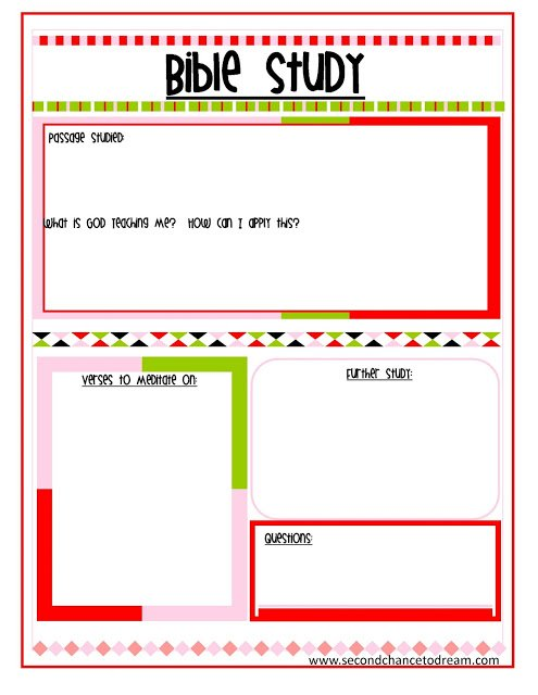 Bible+Study {Free Printable Planner in Two Colors}