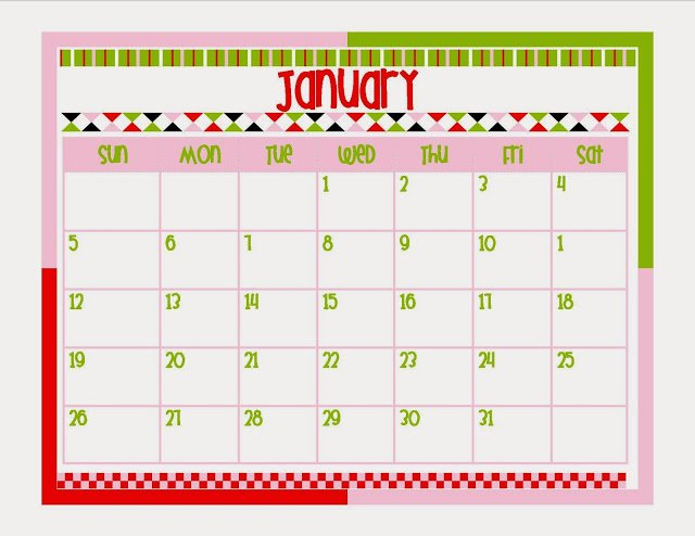 Calendar {Free Printable Planner in Two Colors}