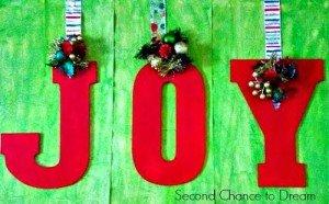 DIY Christmas JOY Mantel