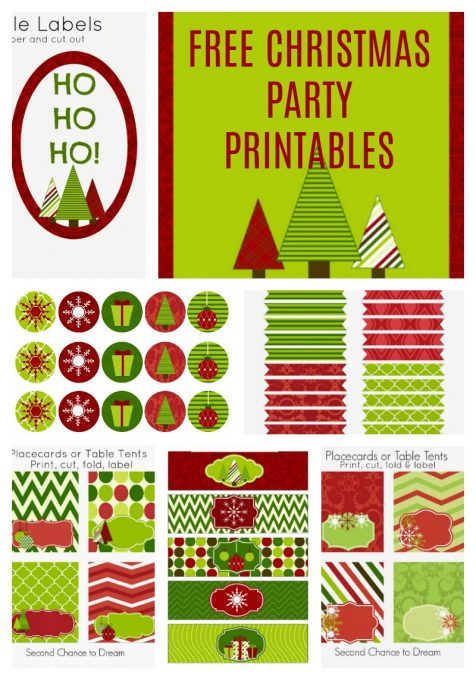 Second Chance to Dream: Free Christmas Party Printables
