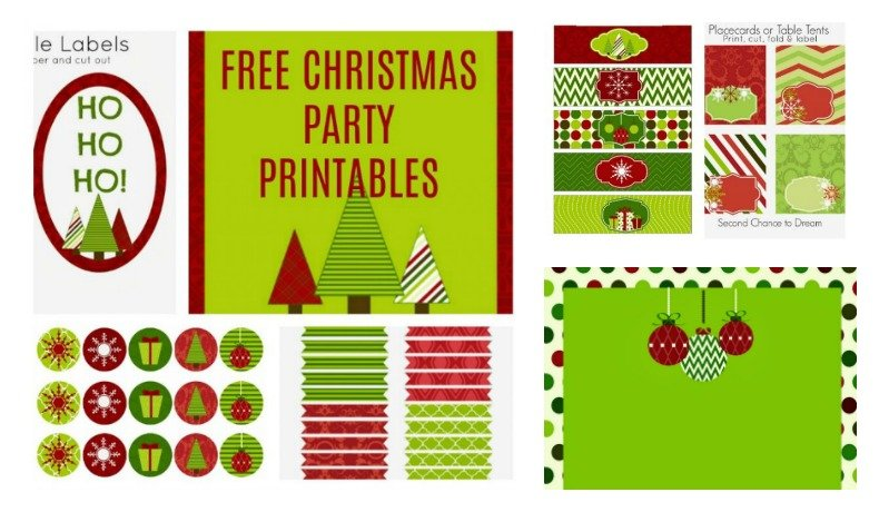 Second Chance to Dream: Free Christmas Party Printables #Christmas #Partyprintables #Free