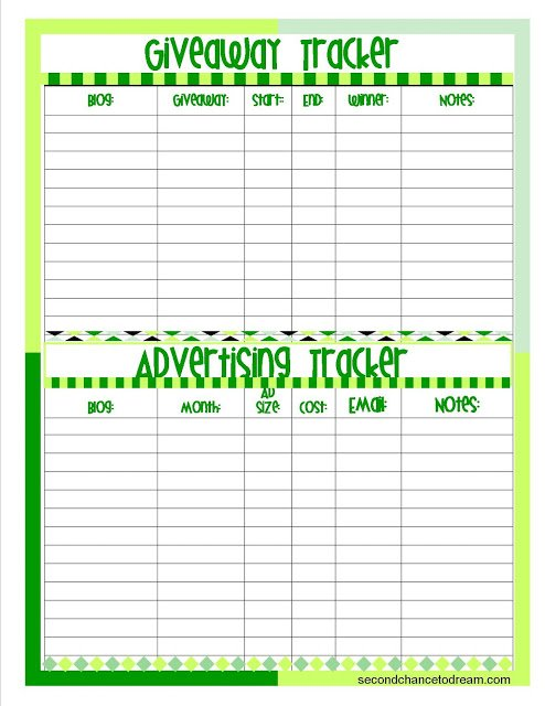 Giveaway+Sponsor+Tracker+gr {Blogging Printables}