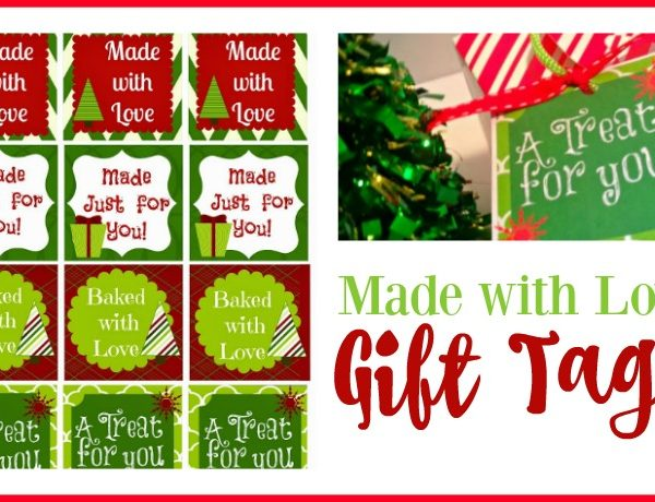 Second Chance to Dream: Made with Love Gift Tags #printables #Christmas #giftgiving