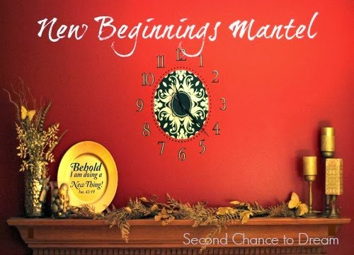 Second Chance to Dream: New Beginnings Mantel #newyeardecor #diymantel