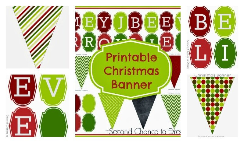 Second Chance to Dream: Printable Christmas Banner #Christmas