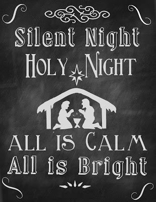 Silent+Night+8x10 {Printables}