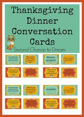 Thanksgiving+Dinner+Conversation+Cards+ {Printables}