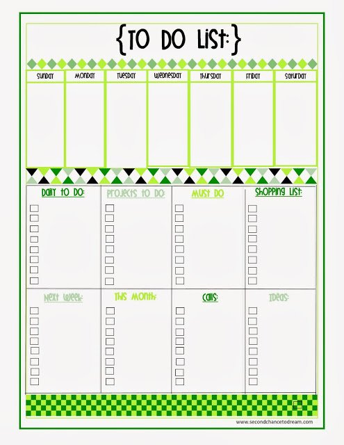 To+Do+Listgr {Free Printable Planner in Two Colors}