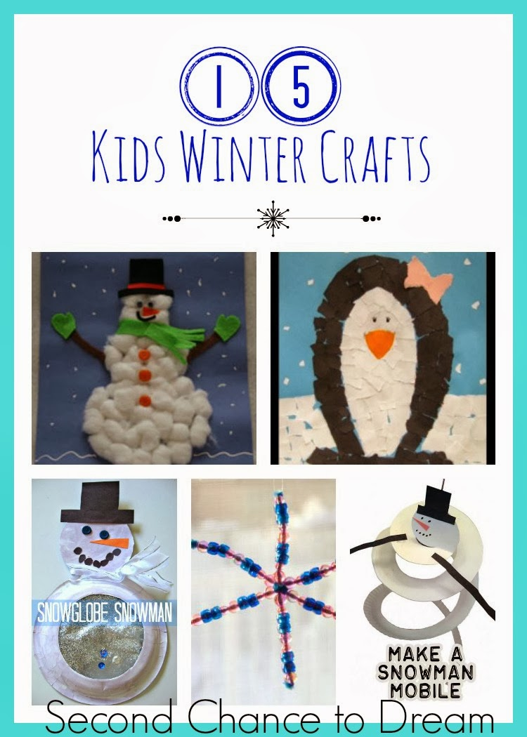 Second Chance to Dream: 15 Kids Winter Crafts #beatwinterblues #kidscrafts