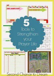 5 Tools to Help you Strengthen your Prayer Life + Free Printables