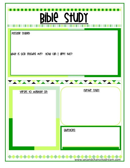 Bible+Study+gr {Bible Study and Prayer Request Printables}