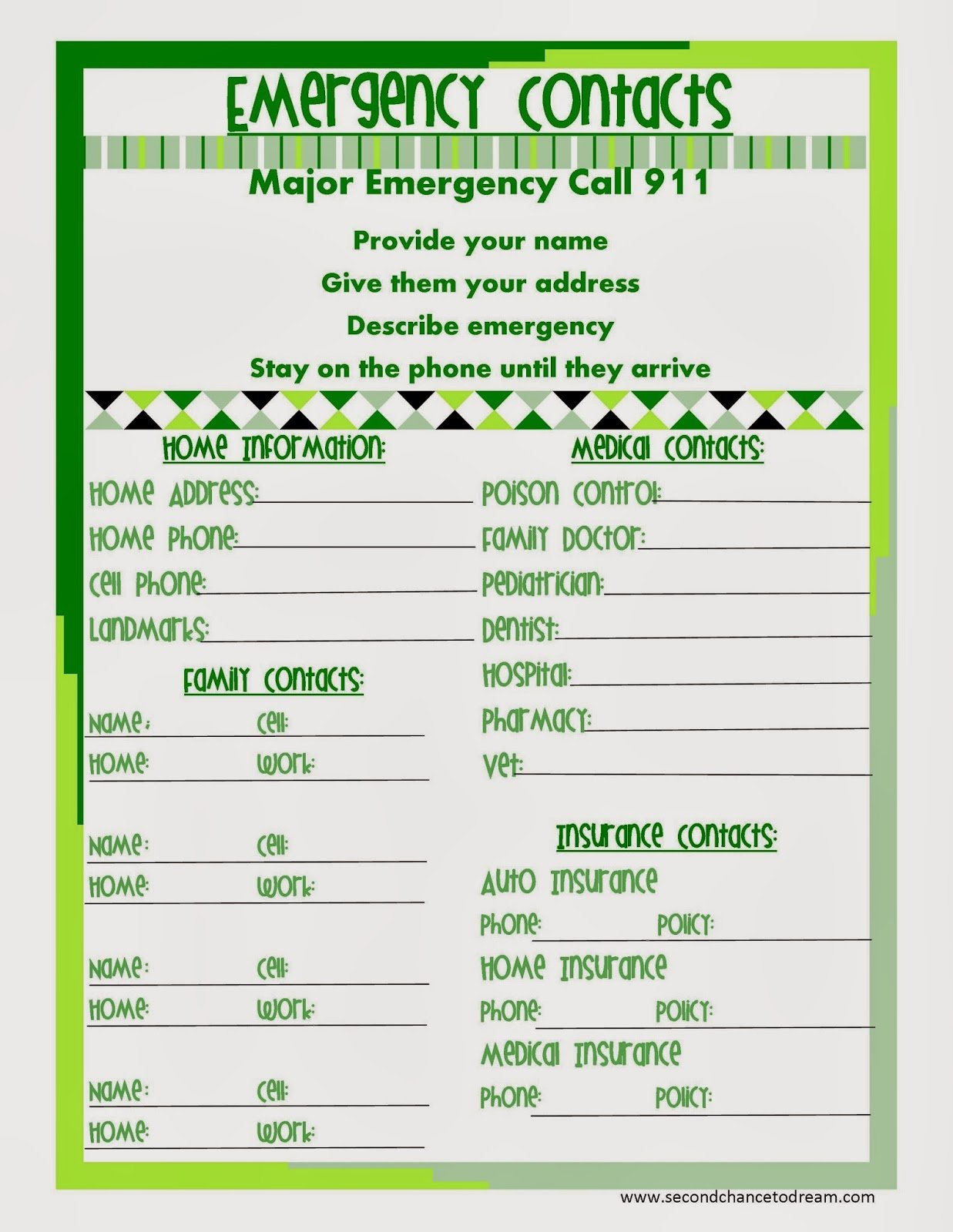 Emergency+Contact+gr {Free Printable Planner in Two Colors}