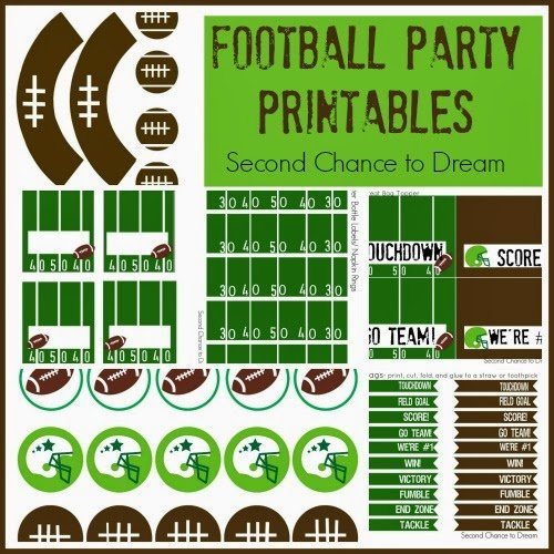 Second Chance to Dream Football Party Printables #footballfun #birthdayparty #party #tailgate