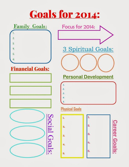 Goals+for+2014 {Free Printable Planner in Two Colors}
