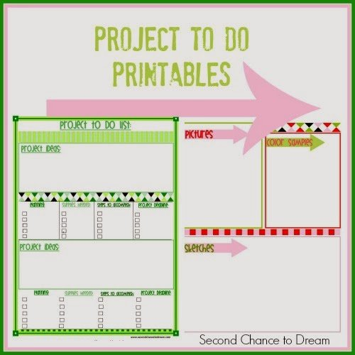 Second Chance to Dream: Project to Do List #freeprintables #printableplanner