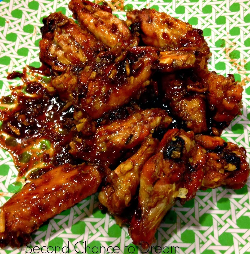 Sticky+Onion+Crunch+Wings Game Day Appetizers