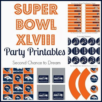 Second Chance to Dream: Super Bowl XLVIII #superbowl #XLVIII #partyprintables