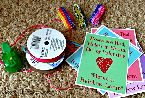 Valentines+day+card+supplies Rainbow Loom Valentine Cards + Free Printable Cards
