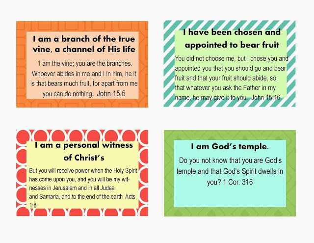 image about Who I Am in Christ Printable named Instant Opportunity Toward Aspiration - Who I am in just Christ Scripture Playing cards