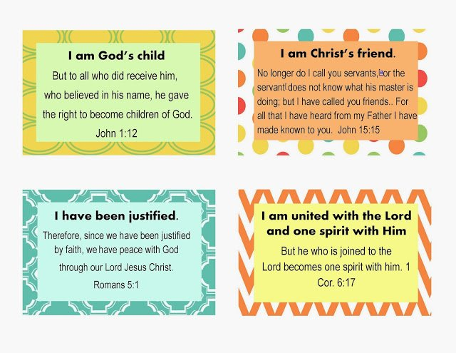 Second Chance to Dream: Who I am in Christ Scripture Cards #whoIaminChrist #freeprintables
