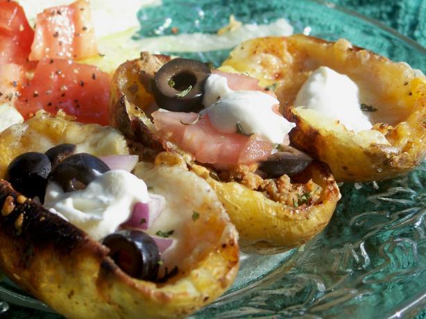 Nacho Potato Skins. Photo by Marsha D.