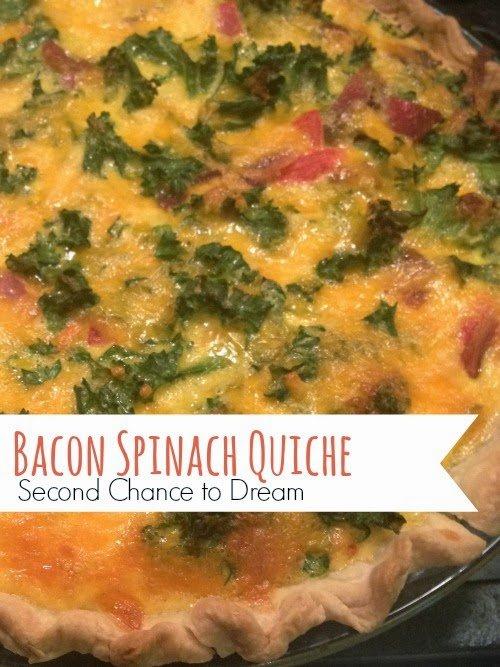 Second Chance to Dream:  Bacon Spinach Quiche