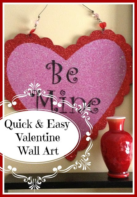 Be+Mine+Wall+Art DIY Candle Cozies