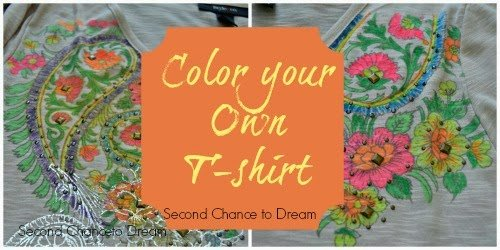 Second Chance to Dream:   Do you have Spring fever? Color Your Own T-shirt! #diyclothingtutoraial