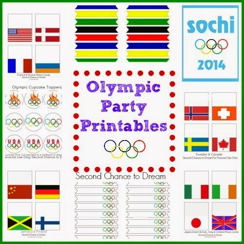 Second Chance to Dream:  Olympic Party Printables #sochi2014 #olympics #freeprintables