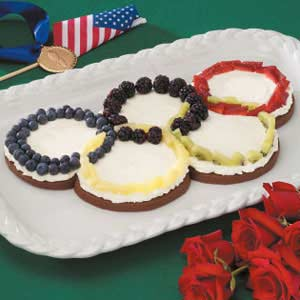 Olympic Rings Fruit Pizza Recipe