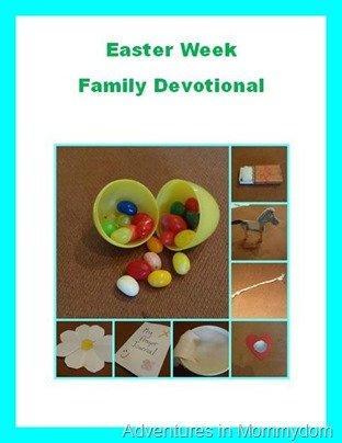 Easter week family devotional free printable