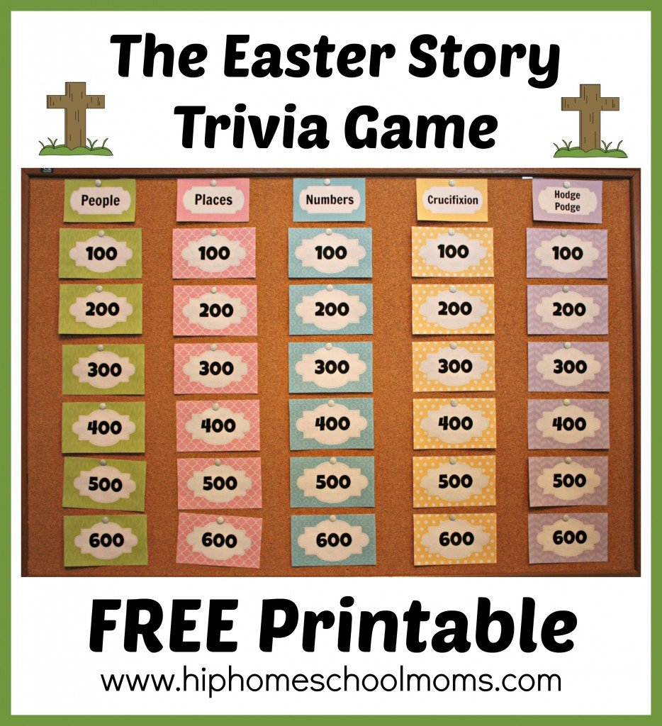 Printable Easter Story Trivia Game