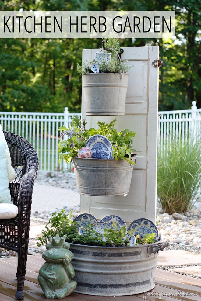 TieredKitchenHerbGardencopy thumb DIY Backyard Kitchen Herb Garden