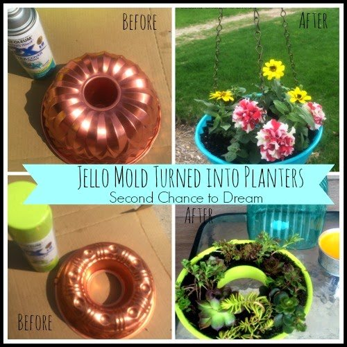 Before+amp+After+Jello+Mold+Collage DIY Mailbox Planters