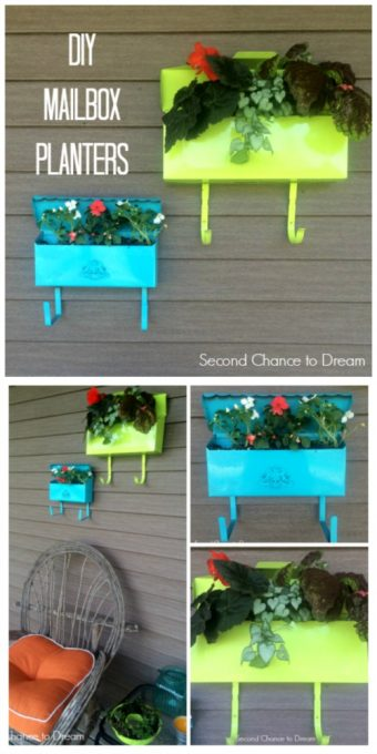 Second Chance to Dream: DIY Mailbox Planters #diygarden #gardening