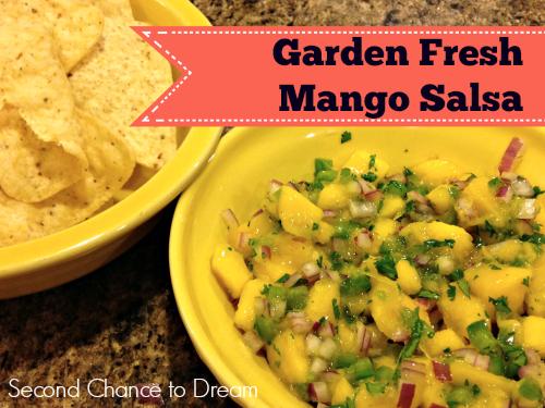 Second Chance to Dream: Garden Fresh Mango Salsa #cleaneating #recipe #cincodemaya