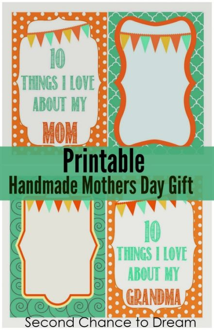 Second Chance to Dream: Printable Handmade Mother's Day Book #MothersDay