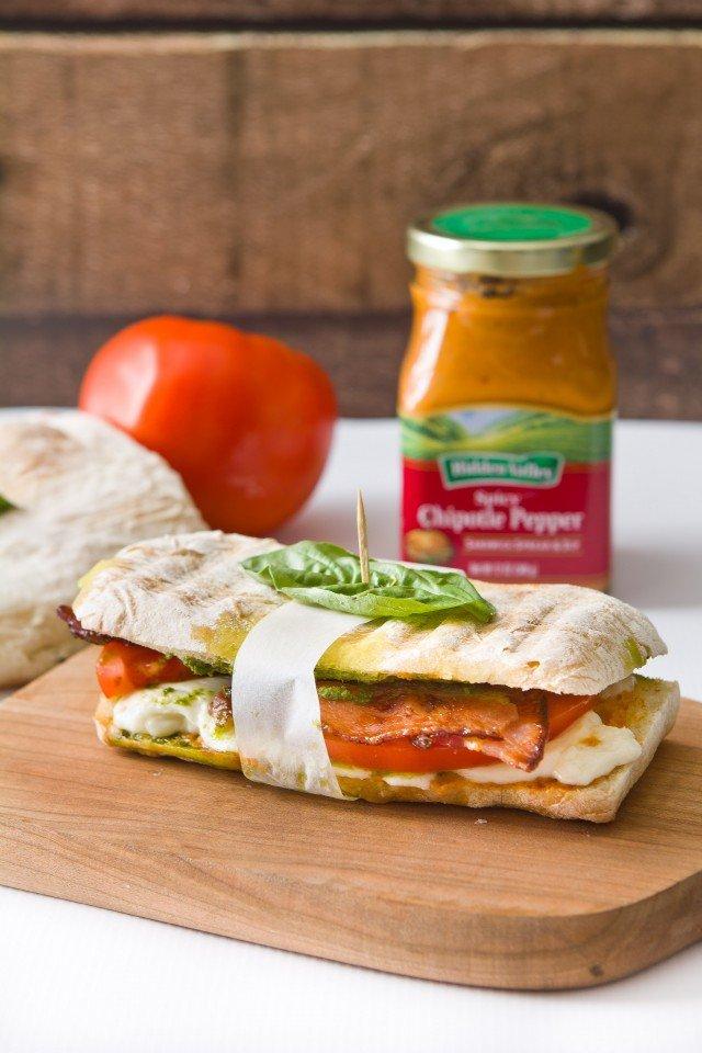 The Ultimate Bacon Caprese Sandwich
