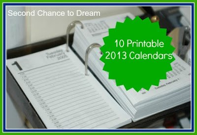 10+Printable+2013+Calandars {Featured On}