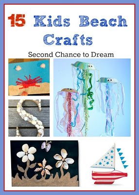15+Kids+Beach+Crafts {Featured On}