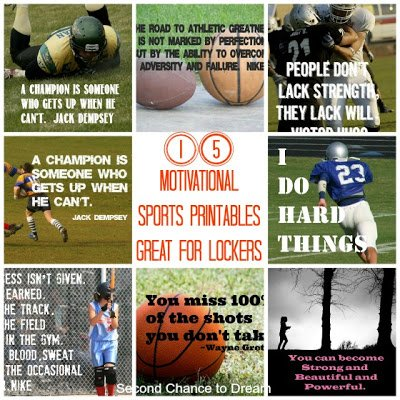15+Motivational+Sports+Printables {Printables}