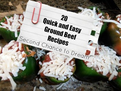 20+Quick+and+Easy+Ground+Beef+Recipes {Featured On}