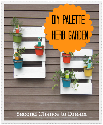 DIY+Palette+Herb+garden {Tutorials}