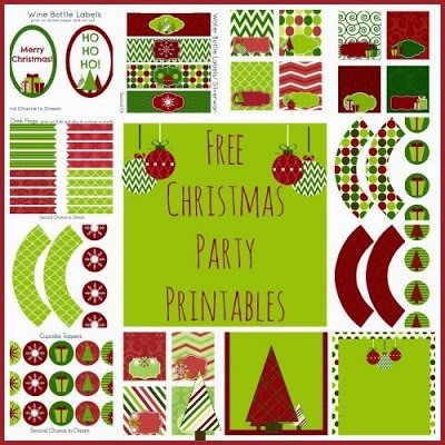 Second Chance to Dream Free Christmas Party Printables #freeprintables #Christmas #party