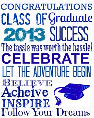 Graduation Blue {Printables}
