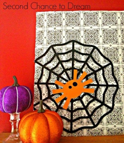 Halloween Dollar Store Vignette from Second Chance to Dream 433x500 {Featured On}