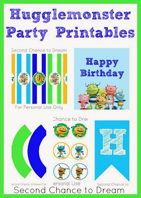 Hugglemonster+Party+Printables {Printables}
