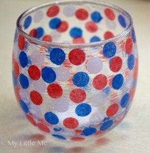 patriotic candle holder